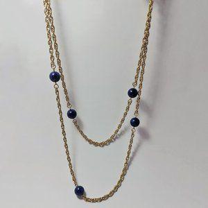 """Vintage Sarah Cov Goldtone Chain Necklace 43"""" Long"""